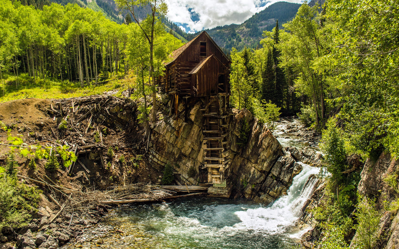 Mountain cabin wallpaper World wallpapers