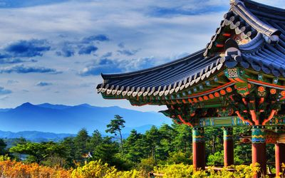 Naksansa temple, South Korea wallpaper