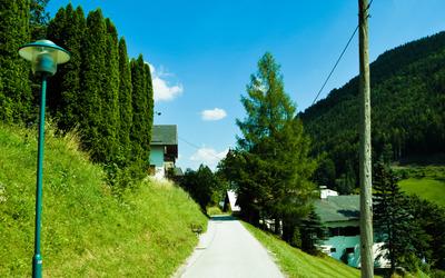 Narrow street in Annaberg wallpaper