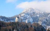 Neuschwanstein Castle in the winter wallpaper 1920x1200 jpg