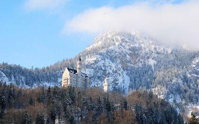 Neuschwanstein Castle in the winter wallpaper