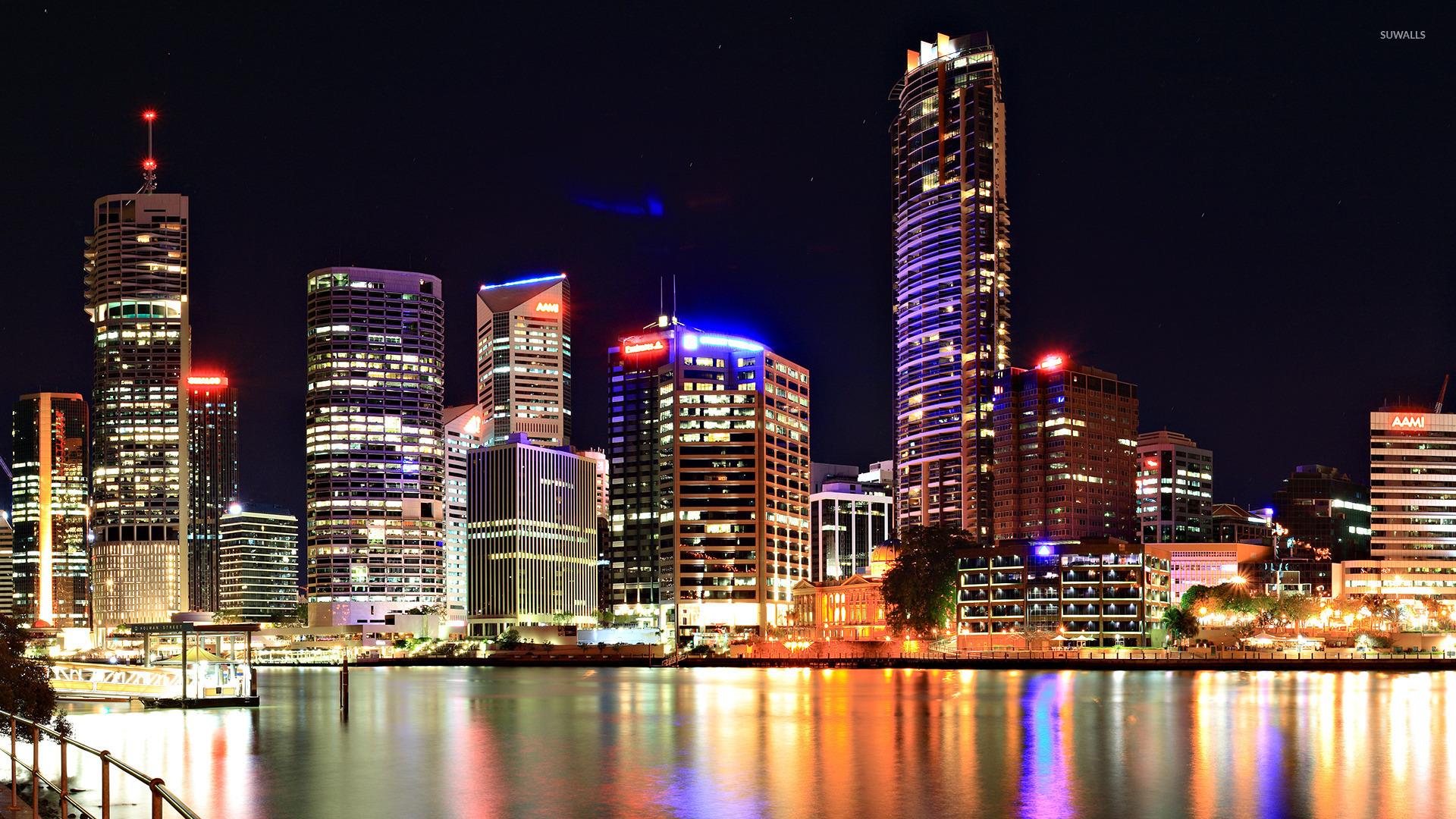небоскребы город отражение ночь без смс