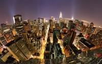 Night lights in Manhattan wallpaper 1920x1080 jpg