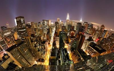 Night lights in Manhattan wallpaper