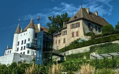 Nyon Castle in Switzerland wallpaper