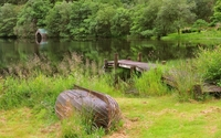 Old wooden pier to the lake wallpaper 1920x1200 jpg