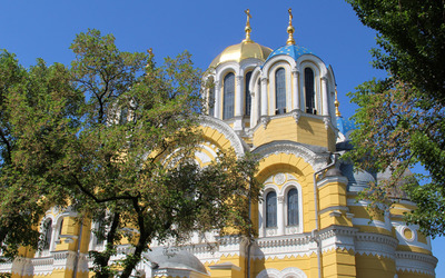 Orthodox church in Russia wallpaper
