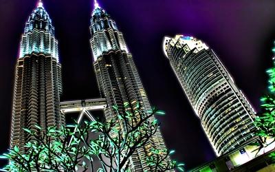 Petronas Towers in Kuala Lumpur wallpaper