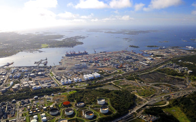 Port of Gothenburg wallpaper
