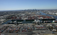 Port of Melbourne wallpaper 2880x1800 jpg