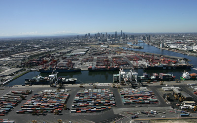 Port of Melbourne wallpaper
