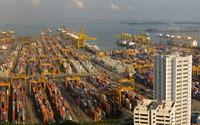 Port of Singapore wallpaper 1920x1200 jpg