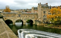 Pulteney Bridge in Bath wallpaper 1920x1200 jpg