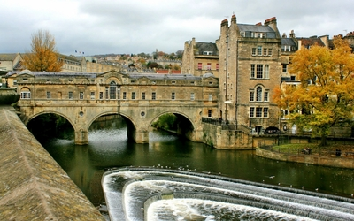 Pulteney Bridge in Bath wallpaper