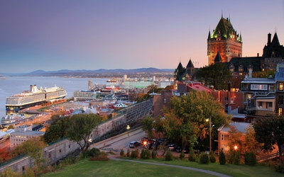 Quebec City at sunset wallpaper