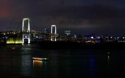 Rainbow Bridge at night, Tokyo wallpaper
