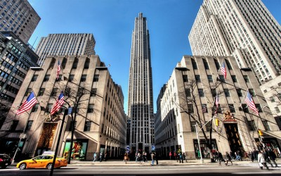 Rockefeller Center in New York City wallpaper