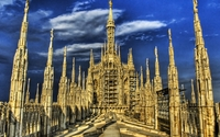 Roof of Milan Cathedral wallpaper 1920x1080 jpg