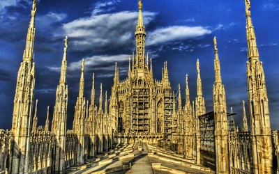 Roof of Milan Cathedral wallpaper