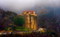 Rousanou Monastery in Greece wallpaper 2560x1600 jpg