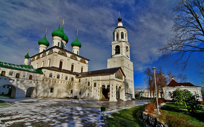Russian church Wallpaper