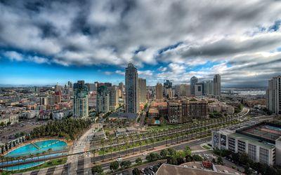 San Diego cityscape wallpaper