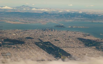 San Francisco aerial view wallpaper