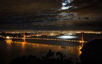 San Francisco at night wallpaper 1920x1200 jpg