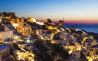Santorini at night wallpaper 1920x1200 jpg