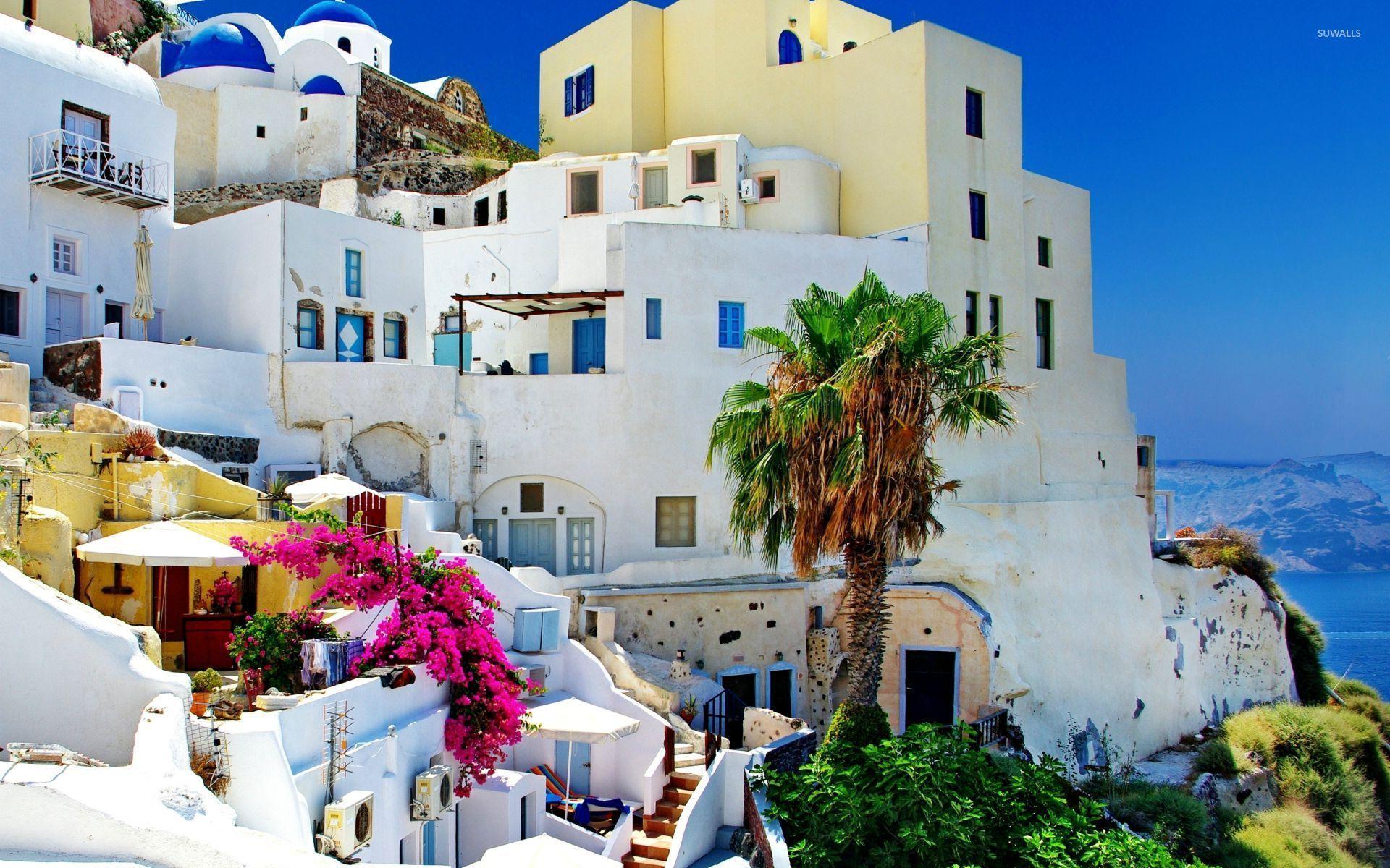greece wallpapers santorini hd - photo #36