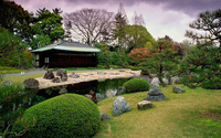 Seiryuen Garden, Nijo Castle wallpaper 1920x1200 jpg