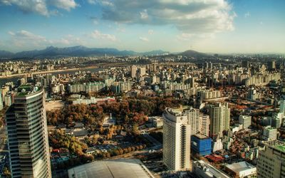 Seoul in the autumn wallpaper