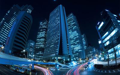 Shinjuku, Tokyo at night wallpaper