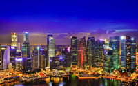 Singapore lights wallpaper 1920x1200 jpg