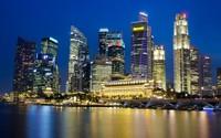 Singapore night lights wallpaper 1920x1200 jpg
