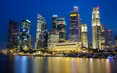 Singapore night lights wallpaper