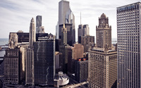 Skyscrapers in Chicago wallpaper 2880x1800 jpg