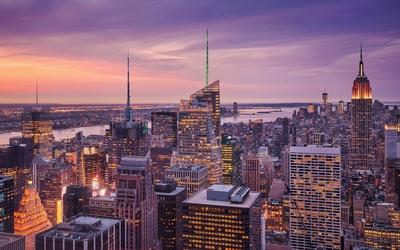 Skyscrapers in New York City wallpaper