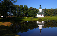 Small church to the lake wallpaper 1920x1200 jpg