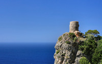 Small fortress on the rocky hill wallpaper 2560x1440 jpg