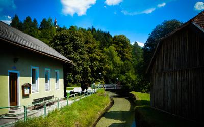 Small stream in Sankt Aegyd am Neuwalde wallpaper