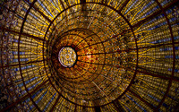 Stained glass dome wallpaper 3840x2160 jpg