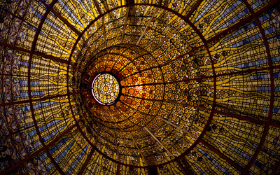 Stained glass dome wallpaper