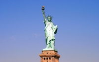 Statue of Liberty on a sunny day wallpaper 2560x1600 jpg
