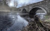 Stone bridge over the river wallpaper 1920x1200 jpg