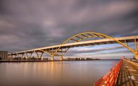 Storm clouds above the bridge wallpaper 1920x1200 jpg