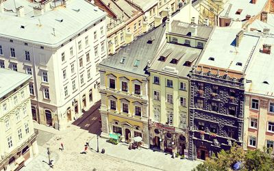 Streets in Lviv, Ukraine wallpaper