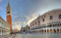Sun rising above the Piazza San Marco Venice wallpaper 2560x1600 jpg