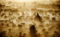 Sunrise in Bagan, Myanmar wallpaper 1920x1200 jpg