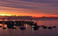 Sunset in the marina wallpaper 1920x1080 jpg